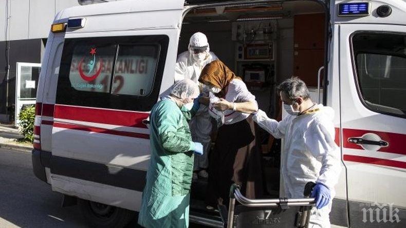 827 новозаразени с коронавируса в Турция за денонощие