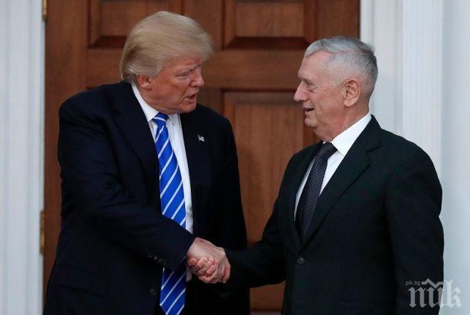 """Доналд Тръмп за бивш шеф на Пентагона: Джеймс Матис е """"най-надцененият генерал в света"""""""