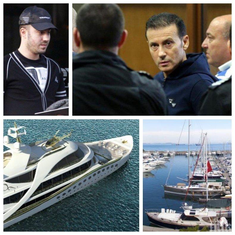 ГОРЕЩО В ПИК: Ето къде плава тайно синът на Миню Стайков с конфискуваната си яхта (КАРТИ)