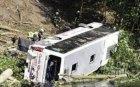 Автобус се обърна в канавка край Пловдив