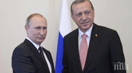 реджеп ердоган проведе преговори владимир путин ситуацията либия