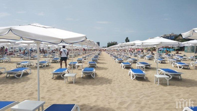 Извънредна проверка на плаж в Слънчев бряг заради надути цени на чадъри и шезлонги