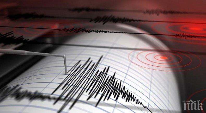 Земетресение с магнитуд 5,2 по Рихтер разтресе Турция