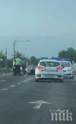 Помляха моторист на пътя Пловдив-Карлово