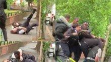 ИЗВЪН КОНТРОЛ: Чернокожите пощуряха! Зверски бият полицаи в Лондон - властта безсилна (ШОКИРАЩО ВИДЕО)