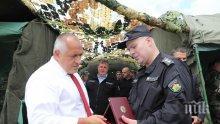 Премиерът Борисов сред военните: Планираното увеличение на заплатите ще остане, въпреки страховитата световна криза (ВИДЕО)