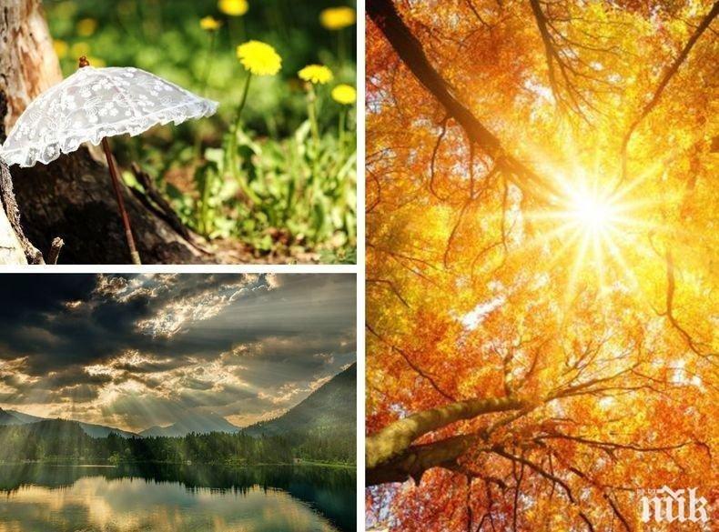 ОБИЧАЙНИТЕ ЗАПОДОЗРЕНИ: Слънце до обяд и дъжд след това, температурите не надхвърлят 30°