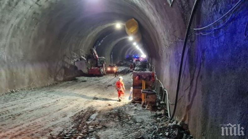 """Масово тестване за коронавирус на работниците в тунел """"Железница"""""""
