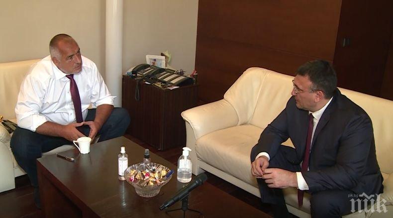 ИЗВЪНРЕДНО В ПИК: Борисов на среща с Маринов след арестите в ГДБОП: Поздравления за МВР и прокуратурата, трябва нашата къщичка да е чиста (ВИДЕО)