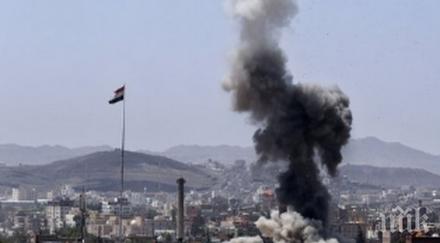 оглавяваната саудитска арабия коалиция нанесла серия въздушни удари йемен