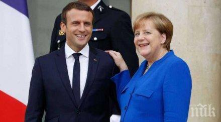 меркел макрон среща германия
