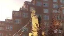Протестиращи събориха статуя на Колумб в Балтимор
