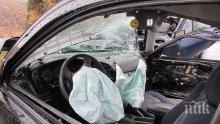 """Тежка катастрофа на магистрала """"Хемус"""" с румънски автобус, загина мъж"""