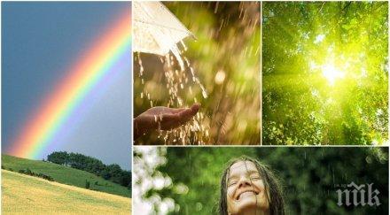 палитра новата седмица започва слънце дъжд гръмотевици