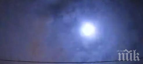 Метеор избухна над Токио, снимаха го стотици