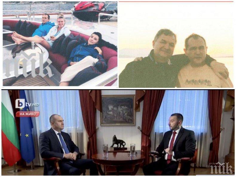 Бобоков като авера си от Дубай - акостира в Божков ТВ от яхтата в Гърция да брани Румен Радев