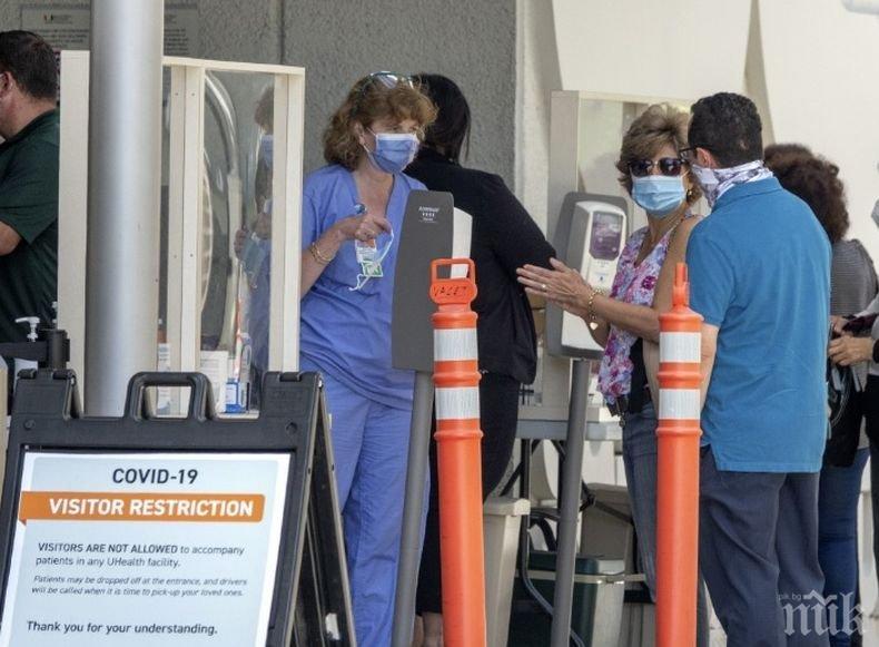 В седем американски щата отчитат рекордно увеличение на случаите на коронавирус