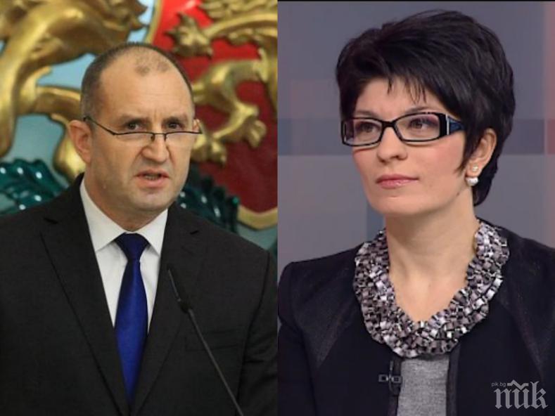 САМО В ПИК: Десислава Атанасова посече жестоко Румен Радев за болните му мераци да диктува новините