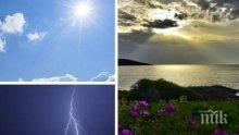 КАПРИЗНО ВРЕМЕ: Слънчево утро, но после пак облаци, дъжд и гръмотевици. Нова опасност от градушки  (КАРТА)