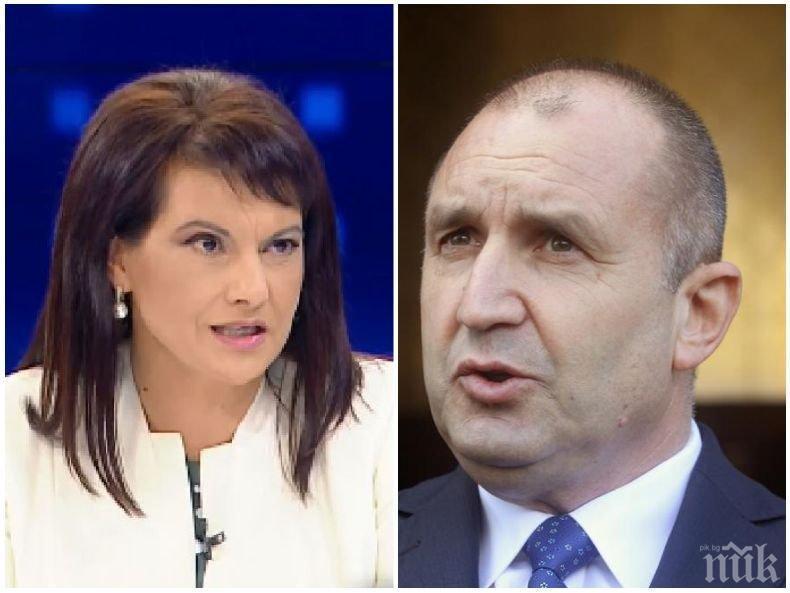 Даниела Дариткова с остър коментар за изявлението на Радев: Това е бягство от отговорност, НСО се контролира от президента по закон