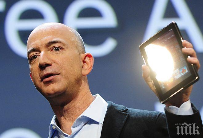 НАСРЕД КРИЗАТА: Състоянието на Джеф Безос надмина 180 милиарда долара