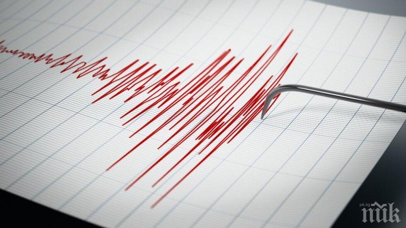 Силно земетресение в Тихия океан