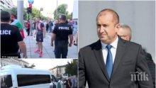 РАЗКРИТИЕ НА ПИК: Радев на крака при арестуван бияч на полицаи от мелето вчера