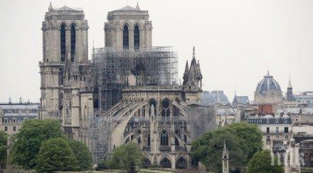 макрон поиска катедралата нотр дам възстановена оригиналния вид