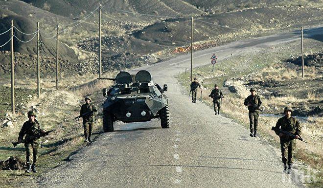Напрежение със стрелба на границата между Азербайджан и Армения