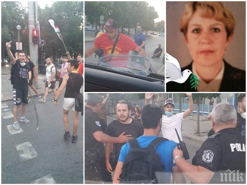Веселина Георгиева от Сливен, чийто бус бе потрошен от вандалите на президента: Радев, ти си предател и убиец. Чупиха ни стъклата, рязаха ни гумите - надъхани от теб, мизернико (СНИМКИ)