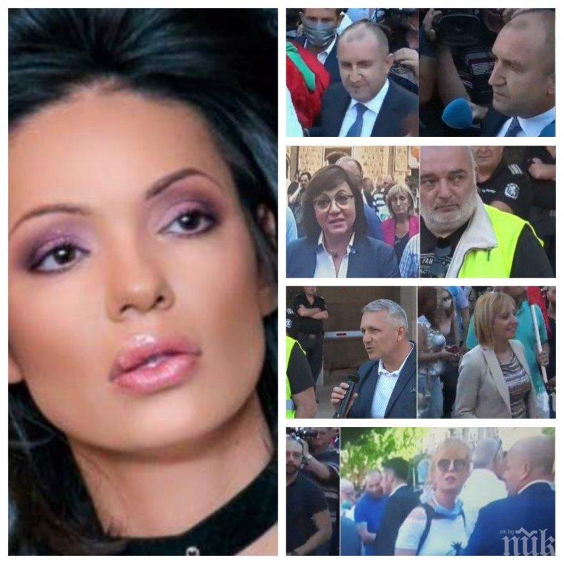 Калина Паскалева със скандално разкритие - жената на единия от биячите на журналиста Слави Ангелов предава на живо метежа на Радев