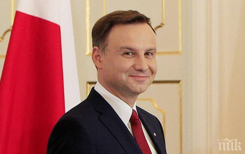 Анджей Дуда на една ръка да спечели президентските избори в Полша