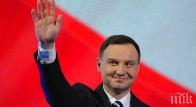ПРЕИЗБРАХА ГО: Анджей Дуда ще е втори мандат президент на Полша