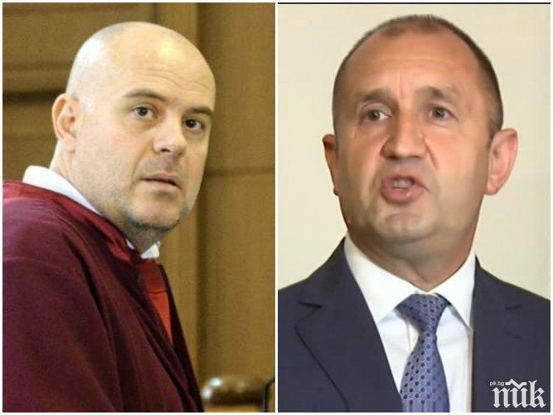 ПЪРВО В ПИК: Главният прокурор Иван Гешев отговори на президента: Радев се нареди до Черепа и останалите олигарси от прехода!