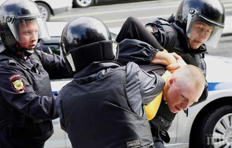 132-ма арестувани след акция на опозицията в центъра на Москва