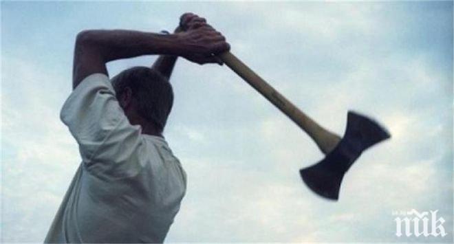 ПОТРЕСАВАЩО НАПАДЕНИЕ: Мъж с брадва нахлу в данъчно, рани служители