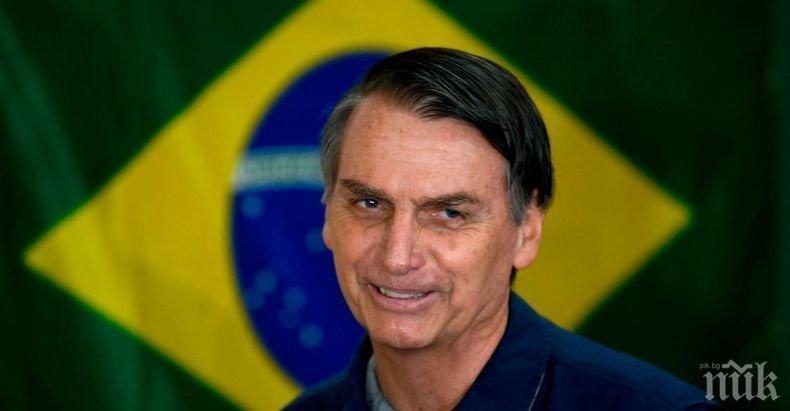 Заразеният с коронавируса президент на Бразилия се надява скоро да се върне на работа