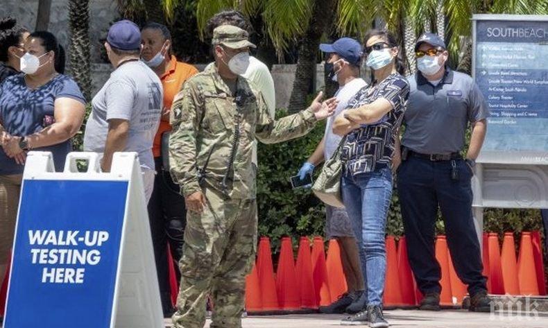 Покачване на броя на заразените с коронавируса в Маями и Аризона