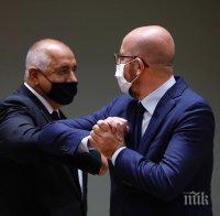 ПЪРВО В ПИК: Борисов разговаря с Шарл Мишел - ето какво подари премиерът на Меркел (СНИМКИ)