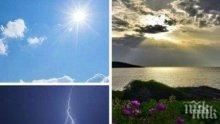 НЕСТАБИЛНО: Хлад, облаци, валежи и гръмотевици, вълни на плажа. Жълт код за 11 области (КАРТА)