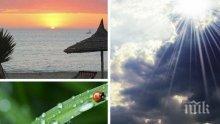 ЛЕТНИ КАПРИЗИ: Много слънце, но на места и облаци с вероятност за дъжд. Ето къде може да превали (КАРТА)