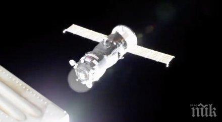рекордно кратко време прогрес достигна международната космическа станция