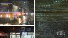 След провилния дъжд в София: Паднали дървета и наводнени улици