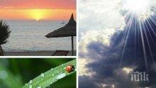 ЛЯТНА ПАЛИТРА: Неделята идва със слънце, жеги, гръмотевици и дъждове - ето къде ще гърми и вали най-много (КАРТА)