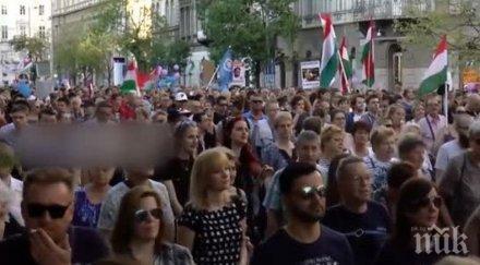 хиляди протестираха будапеща свобода медиите