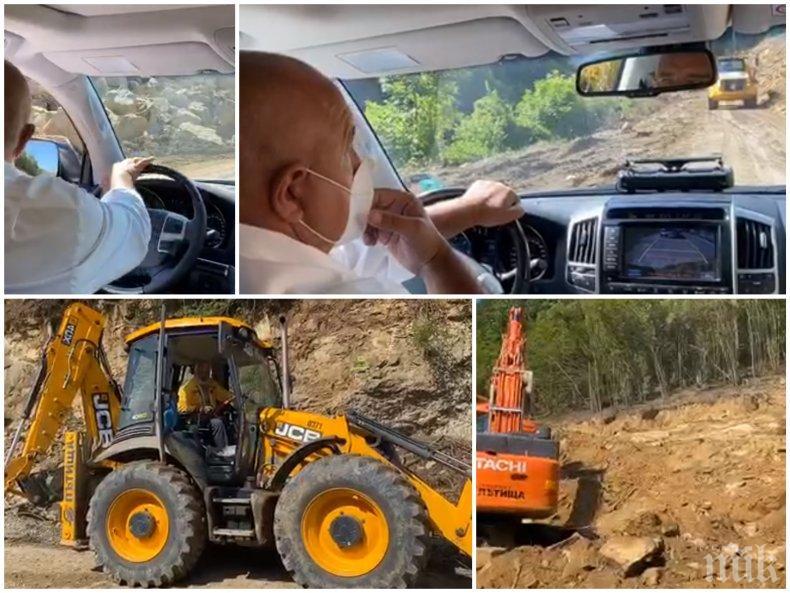 ПЪРВО В ПИК TV: Борисов на строежа на пътя Ботевград-Мездра: Сега ще видите протеста на работниците, които не спират да строят! (ВИДЕО/ОБНОВЕНА/СНИМКИ)