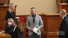 ЗА ВТОРИ ПЪТ: Калин Вельов се закле като народен представител