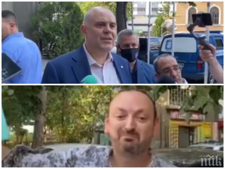 КУРИОЗ В ЯМБОЛ: Главният прокурор Иван Гешев покани на разговор единствения протестиращ в града, той се покри (ВИДЕО/СНИМКИ)