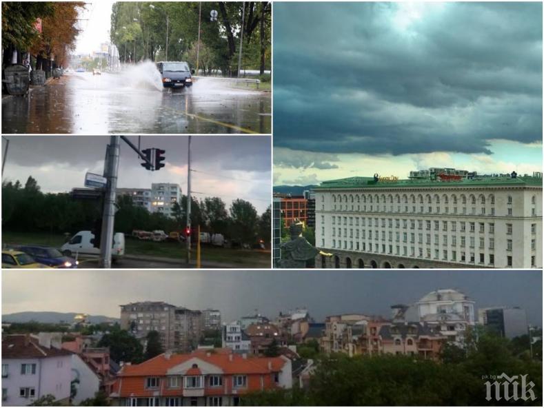 ЕКСКЛУЗИВНО В ПИК! Лятна буря връхлетя София