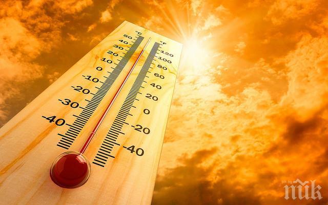 ЖЕГА: Измериха температурен рекорд от 44 градуса днес в Сандански